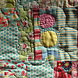 boho quilt - quilting detail